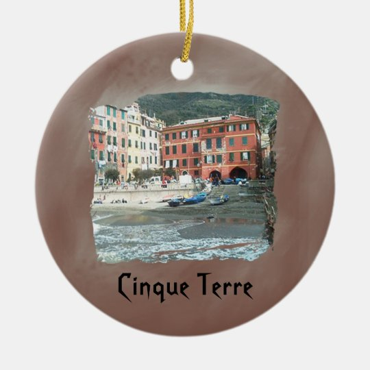Cinque Terre - Vernazza Christmas Ornament