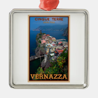 Cinque Terre - Vernazza from Above Christmas Ornament