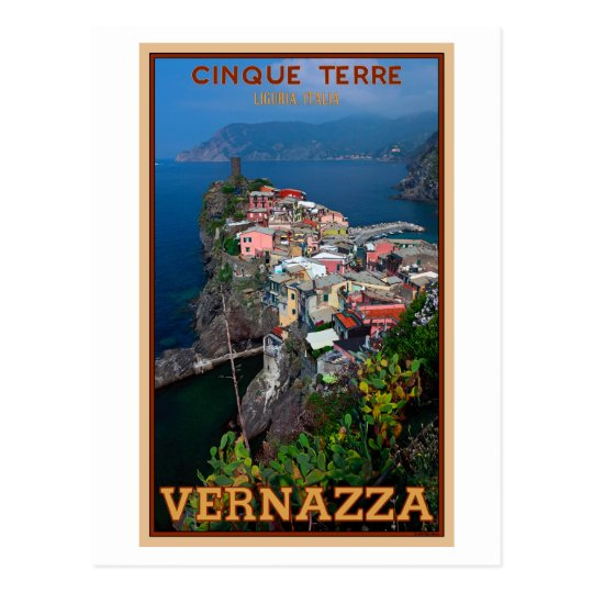 Cinque Terre - Vernazza from Above Postcard