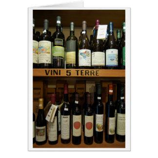 Cinque Terre Wines Italy Card