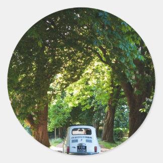 Cinquecento Fiat 500 Round Sticker