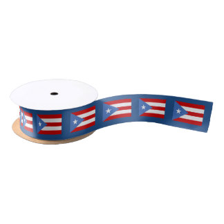 Cinta: Puerto Rico Flag Satin Ribbon