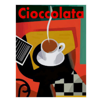 Cioccolata, Italian Hot Chocolate Poster