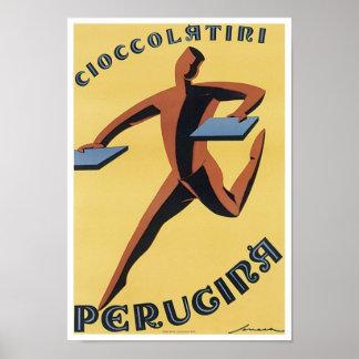 Cioccolatiri Perugina Vintage Ad Print