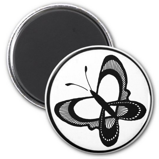 circ, butterfly 11 6 cm round magnet