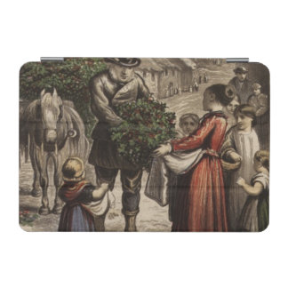 Circa 1850: A carter delivering holly iPad Mini Cover