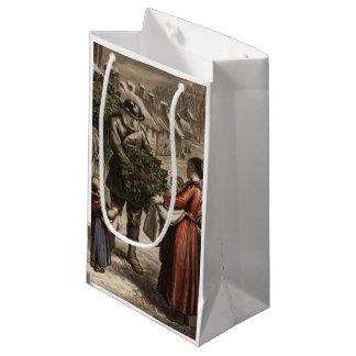 Circa 1850: A carter delivering holly Small Gift Bag