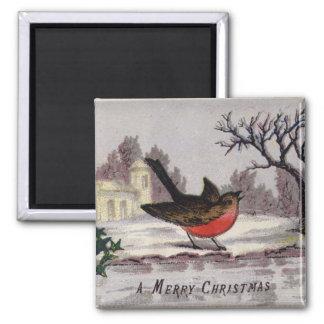 Circa 1865: A traditional Christmas robin Refrigerator Magnet