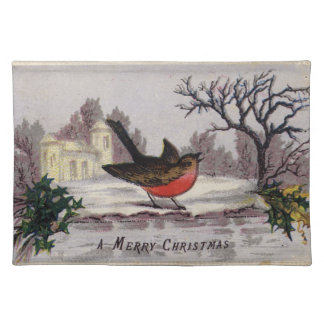 Circa 1865: A traditional Christmas robin Placemat