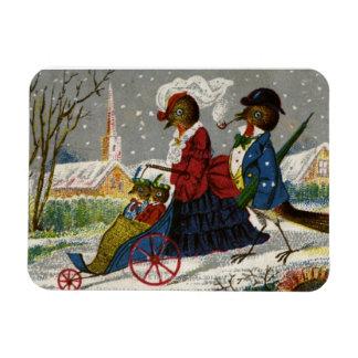 Circa 1870: The Robin family take a stroll Rectangular Photo Magnet