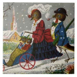 Circa 1870: The Robin family take a stroll Tile
