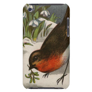 Circa 1871: A robin, with mistletoe in its beak Barely There iPod Cases
