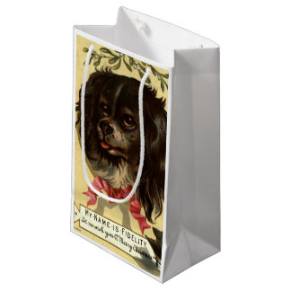 Circa 1878: A Christmas greetings card Small Gift Bag