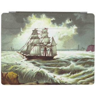 Circa 1880: A Christmas greetings card iPad Cover