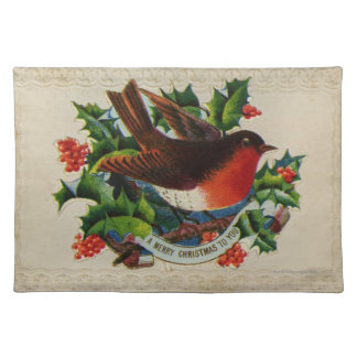 Circa 1900: A traditional Christmas robin Placemat