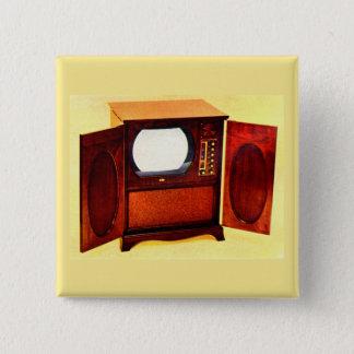 circa 1950 television set no. 1 15 cm square badge