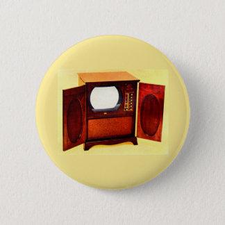 circa 1950 television set no. 1 6 cm round badge