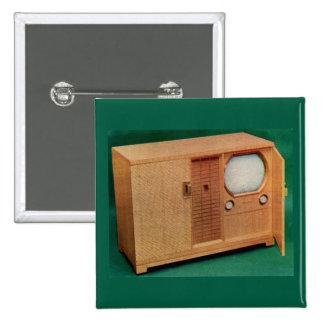 circa 1951 television set Danish modern no. 2 15 Cm Square Badge