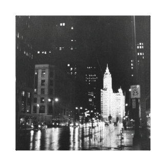 circa 1954:  A view down Michigan Avenue Canvas Print