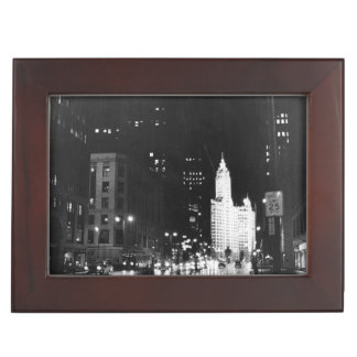 circa 1954:  A view down Michigan Avenue Keepsake Box