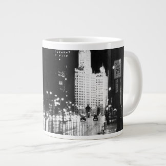circa 1954:  A view down Michigan Avenue Large Coffee Mug