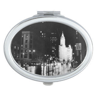 circa 1954:  A view down Michigan Avenue Mirror For Makeup