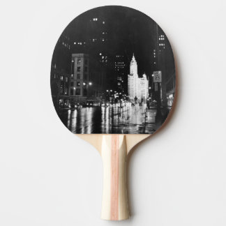 circa 1954:  A view down Michigan Avenue Ping Pong Paddle