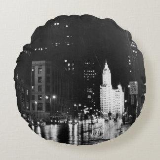 circa 1954:  A view down Michigan Avenue Round Cushion