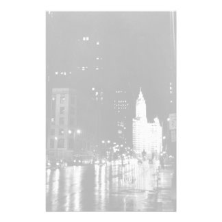circa 1954:  A view down Michigan Avenue Stationery
