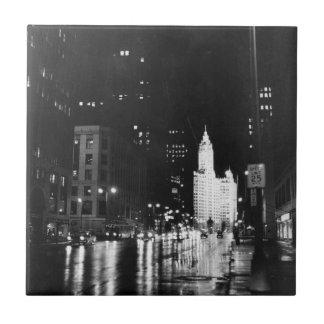 circa 1954:  A view down Michigan Avenue Tile