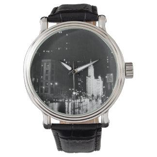 circa 1954:  A view down Michigan Avenue Watch