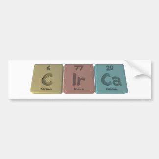 Circa-C-Ir-Ca-Carbon-Iridium-Calcium.png Bumper Sticker