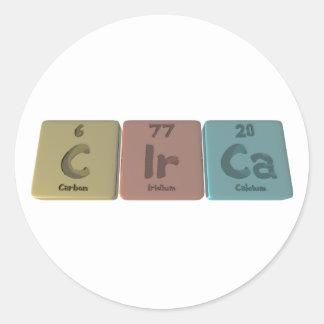 Circa-C-Ir-Ca-Carbon-Iridium-Calcium.png Round Sticker