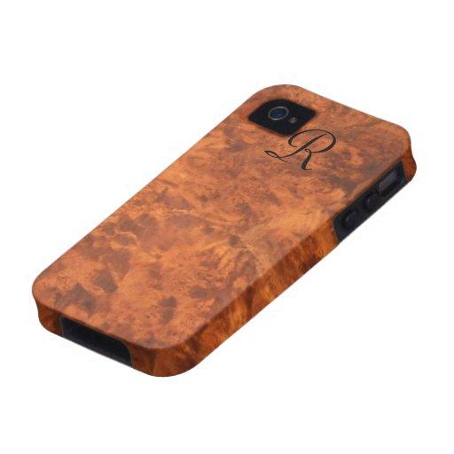 Circassian Walnut Burl iPhone 4 Case *monogram*