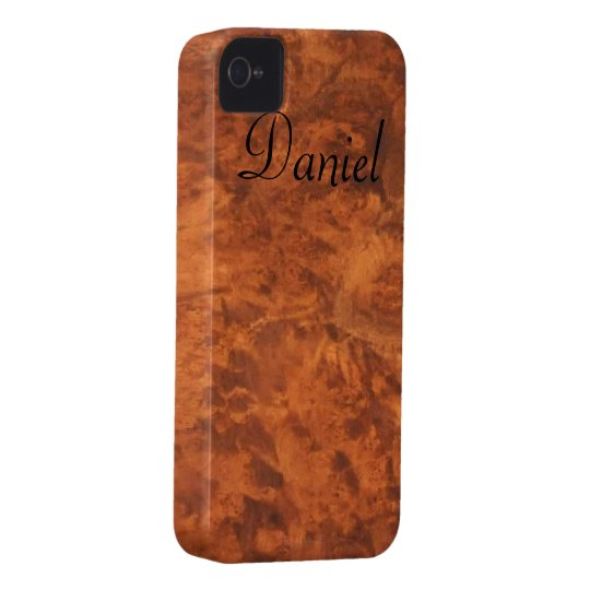 Circassian Walnut Burl iPhone 4 Case *personalise*