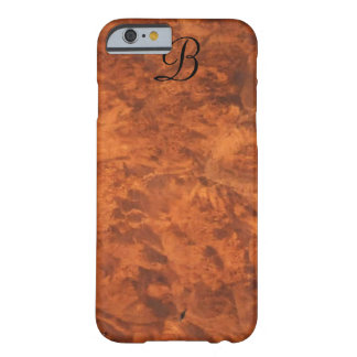 Circassian Walnut Burl iPhone 6 case *monogram* Barely There iPhone 6 Case
