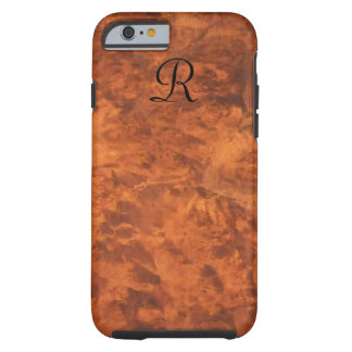 Circassian Walnut Burl iPhone 6 case *monogram* Tough iPhone 6 Case