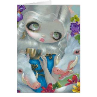 """Circe and the Swine"" Greeting Card"