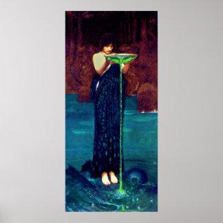 Circë Invidiosa (1892)~ Fine Art Canvas Print