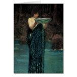 Circe Invidiosa by Waterhouse, Vintage Victorian Greeting Card
