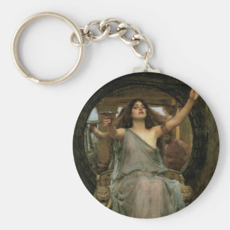 Circe Offering the Cup to Ulysses by JW Waterhouse Basic Round Button Key Ring