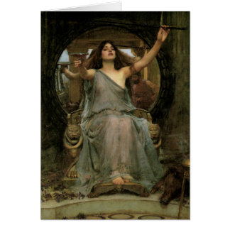 Circe Offering the Cup to Ulysses by JW Waterhouse Card