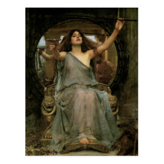Circe Offering the Cup to Ulysses by JW Waterhouse Postcard