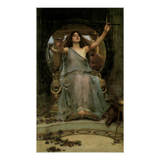Circe Offering the Cup to Ulysses by JW Waterhouse Poster
