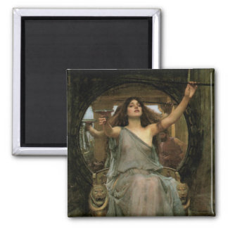 Circe Offering the Cup to Ulysses by JW Waterhouse Square Magnet
