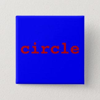 circle 15 cm square badge