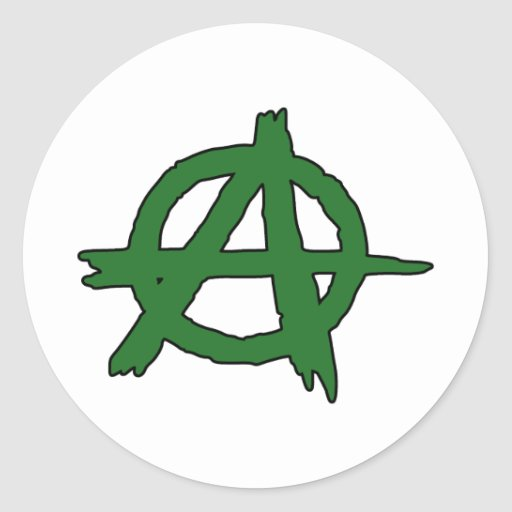 Circle A Anarchy Symbol Anarchist Anarchism Round Sticker