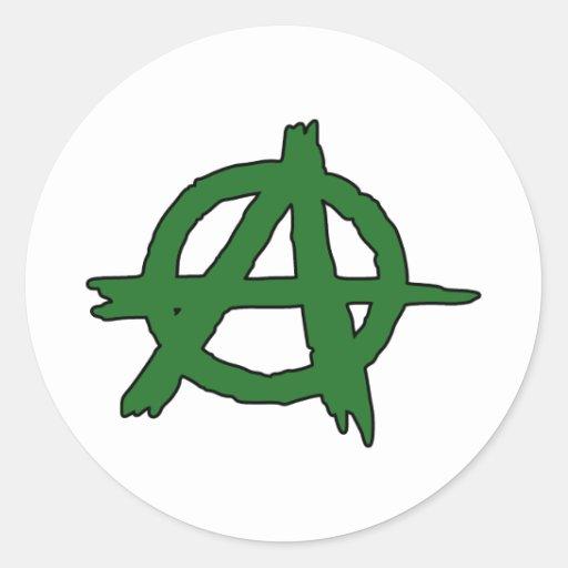 Circle A Anarchy Symbol Anarchist Anarchism Round Sticker