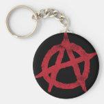 'circle a' anarchy symbol key chain