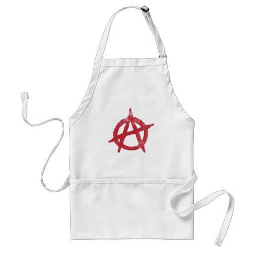 'circle a' anarchy symbol standard apron